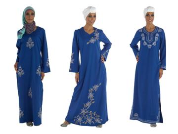 blue emroidered abayas