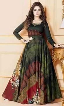 long flayered dress